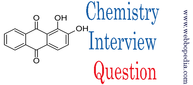 Chemistry Interview Question