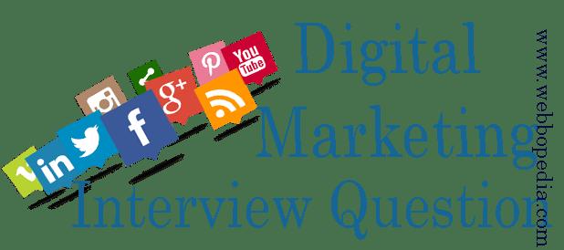 Digital Marketing Interview Question