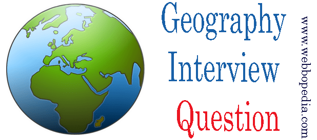 Geography Interview Question