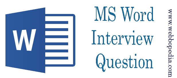 MS Word Interview Question