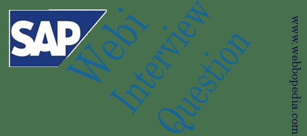 SAP Webi Interview Question